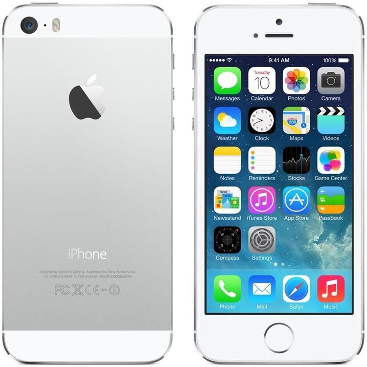 iPhone 5S 16GB Silver - BEG - GOTT SKICK - OLÅST