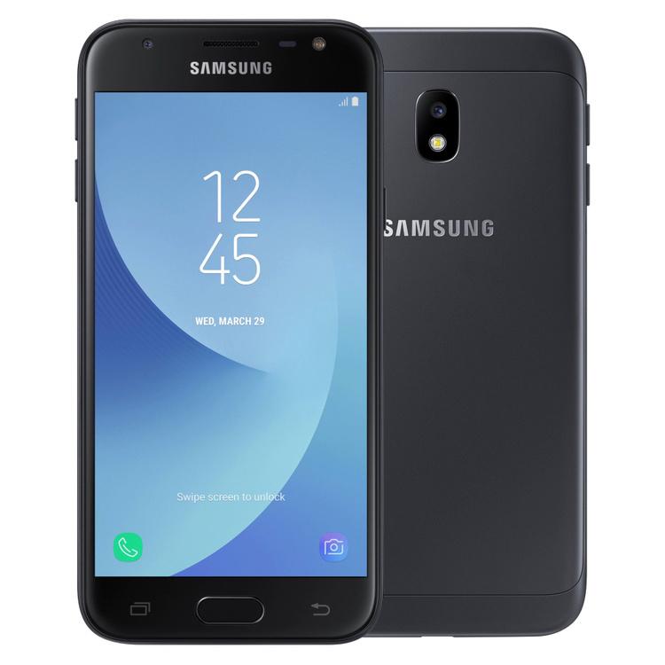 Samsung Galaxy J3 (2017) 16GB Dual SIM Svart - BEG - GOTT SKICK - OLÅST