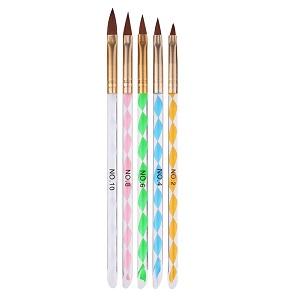 5 pack penslar för gel