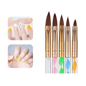 5 pack Penslar för Gel/nagellack
