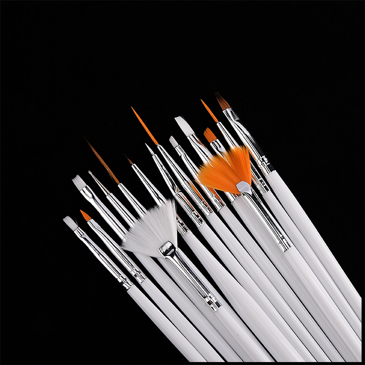 15 pack penslar för gel/nagellack