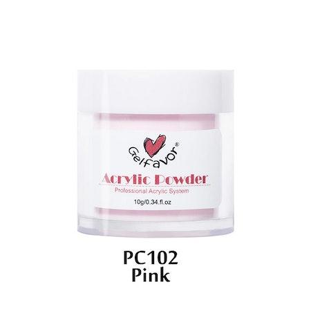 Akrylpulver Pink - Ljusrosa