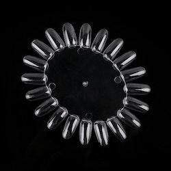 Testnaglar Oval - Clear
