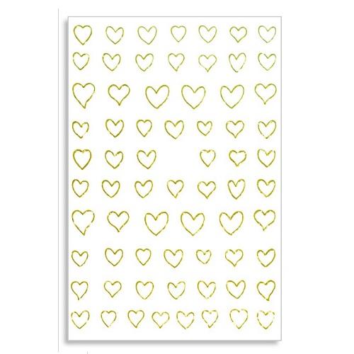 Sticker Guldhjärtan