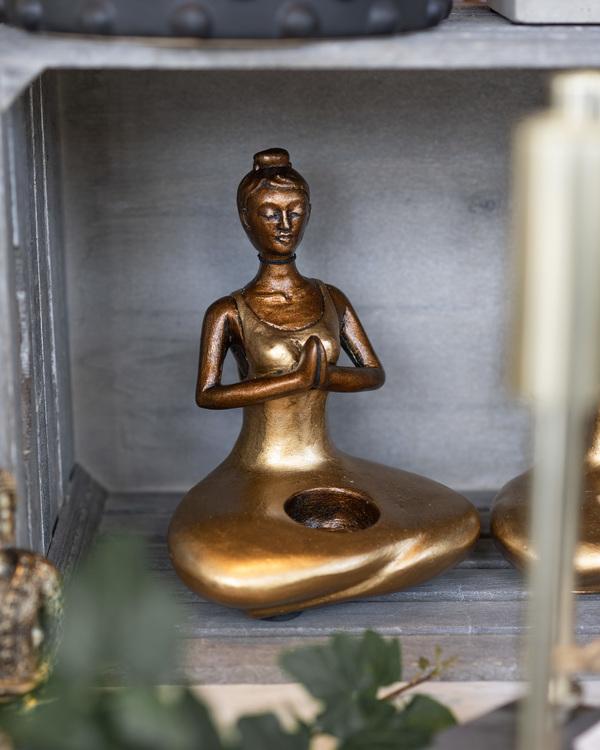 Ljushållare Yogakvinna Meditation