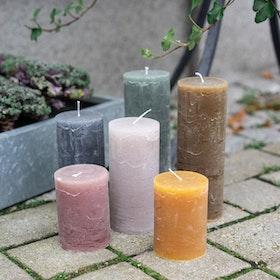 Rustika Blockljus - flera färger