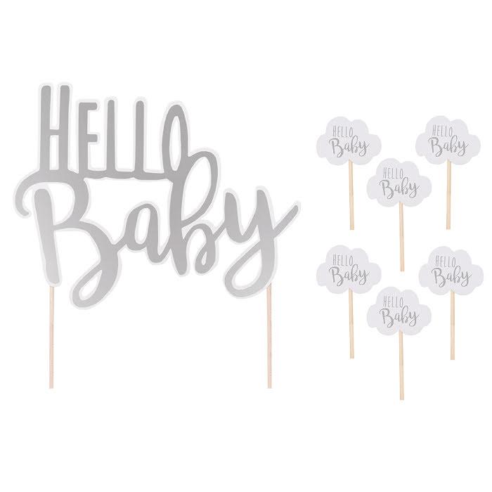 Tårtdekoration Hello Baby