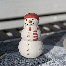 Snögubbe Ljushållare