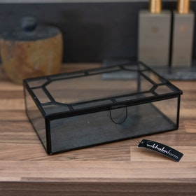 Smyckeskrin/liten glas ask