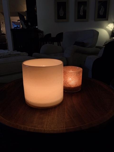 Candle holder Calore M - Peach