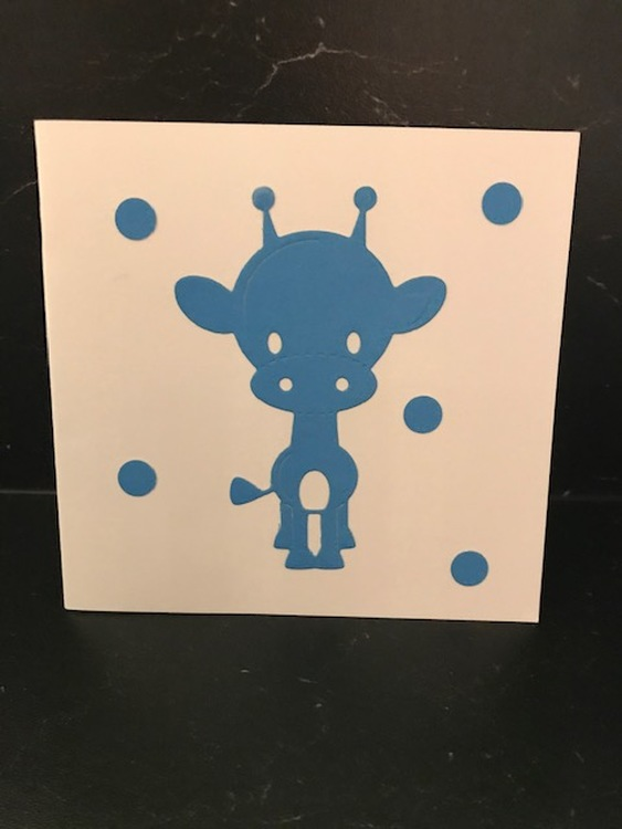 Giraff blå