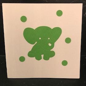 Elefant grön