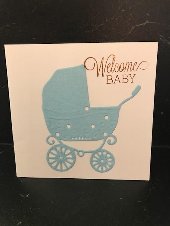 Welcome baby blå