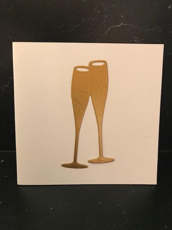 Champagneglas guld