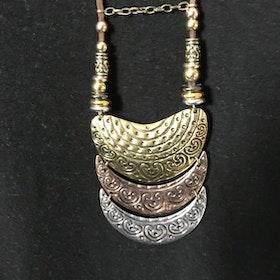 Halsband långt läderband