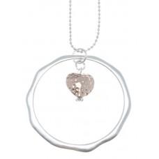 Långt halsband med Rosa Hjärta