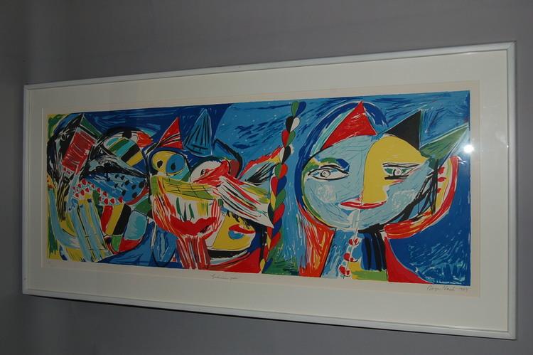 Färglitografi, Jørgen Nash Gudenåens poesi 1989