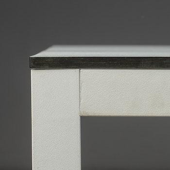 Hyr bord - svart kant & vit laminat - 242 cm