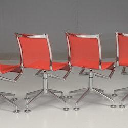 Hyr stolar, Alias Meetingframe 436 - Röda - Alberto Meda