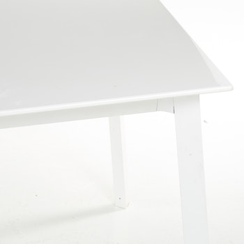 Hyr bord, vit laminat & stål - 280 x 90 cm