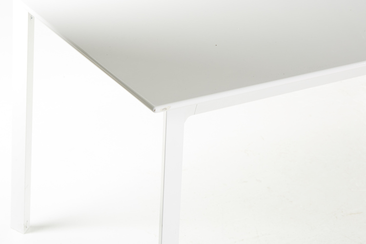 Matbord, vit laminat & stål - 280 x 90 cm