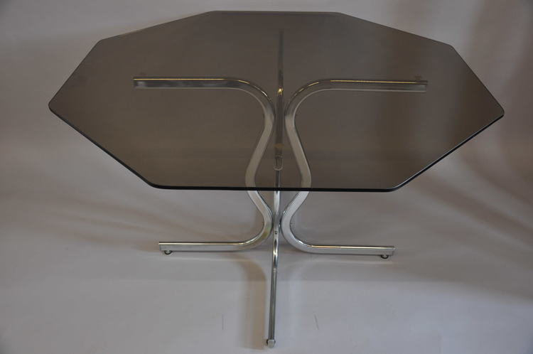 Hyr bord, Willy Rizzo Table - Glasbord