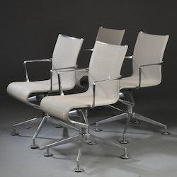Hyr stolar, Alias 437 Meetingframe Vit - Alberto Meda