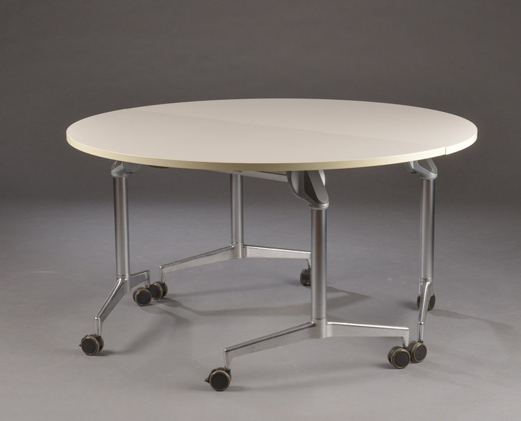 Hyr konferensbord på hjul fällbart runt, Kusch & Co