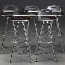 Hyr barpallar i industridesign med aluminium & trä