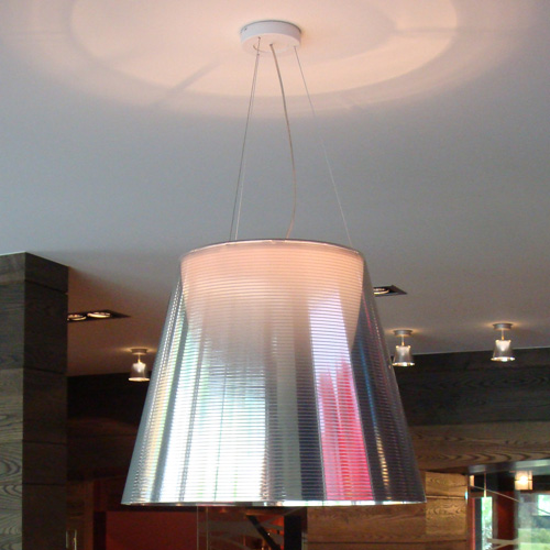 Taklampa, FLOS K tribe S3 - Philippe Starck - Silver