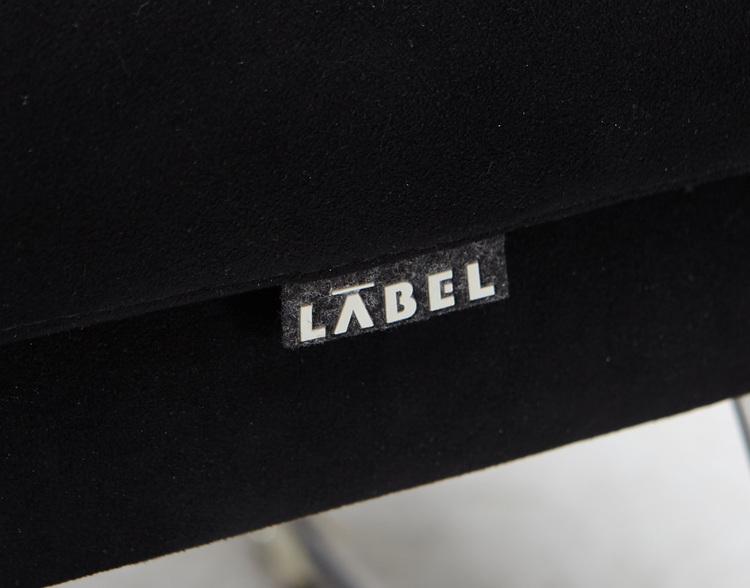 Hyr fåtölj med fotpall, Label Don