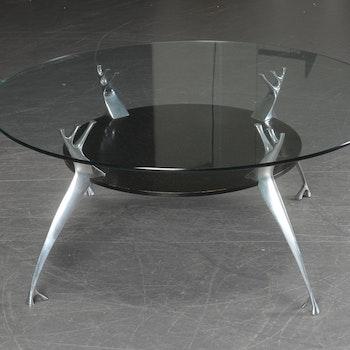 Hyr soffbord från Paustian i glas - Ø 99 cm