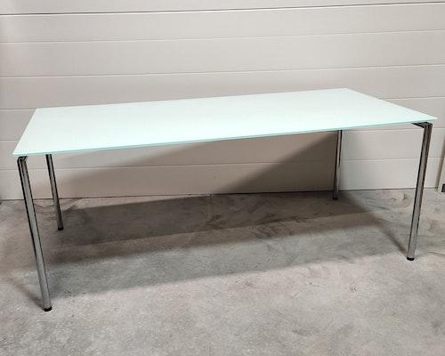 Glasbord med fällbara ben - 180 x 90 cm