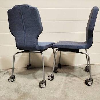 Hyr stolar med hjul, RH Visit - Blå