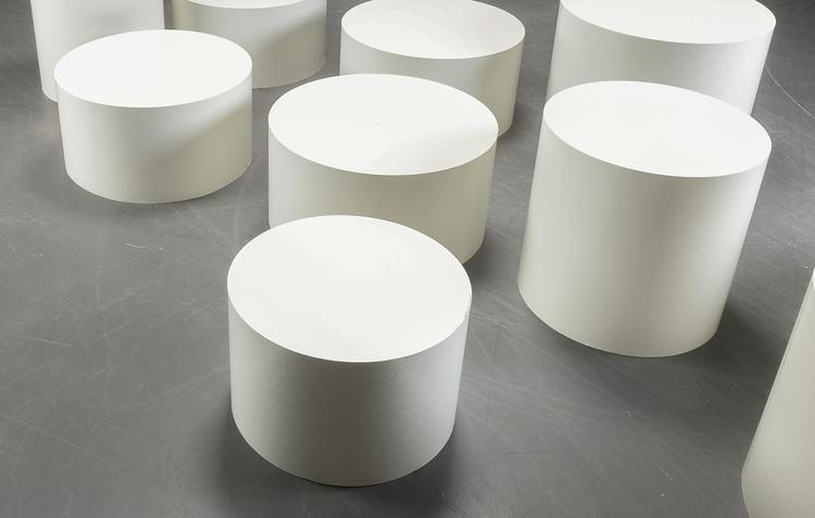 Hyr vita piedestaler - Flera storlekar