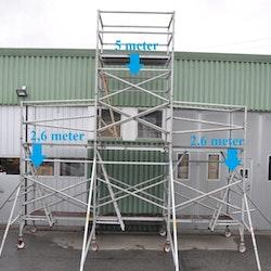 Fasadställning på hjul - 5 x 5,5 meter