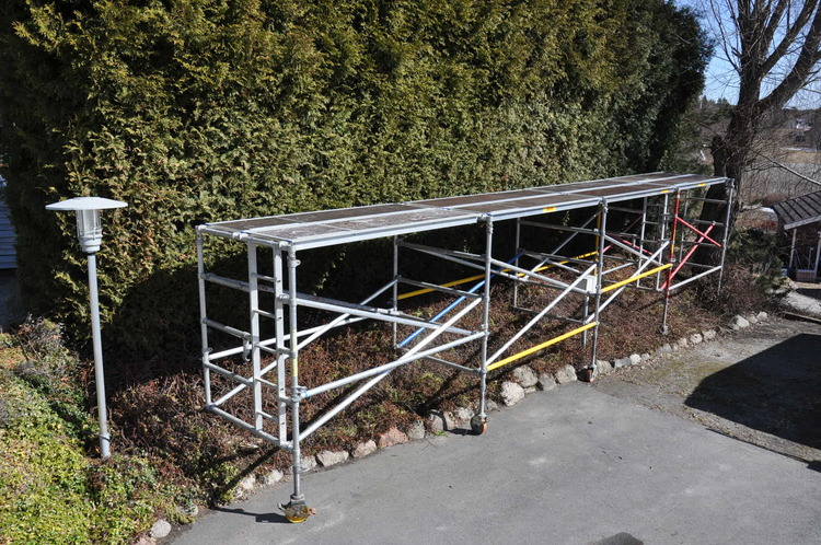 Djup byggställning - 2,2 x 5-10 meter