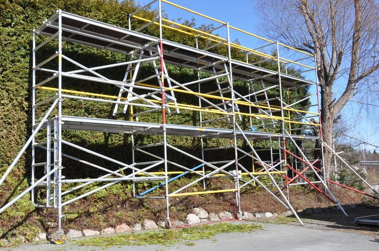 Djup byggställning - 4,2 x 5-10 meter
