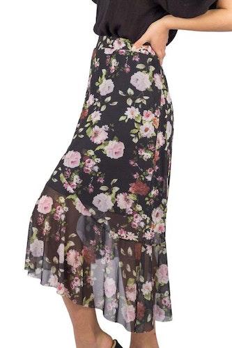 Floria Skirt Black/Rose/Magnolia