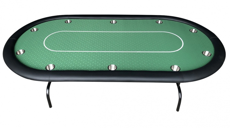 Turnering grön pokerbord