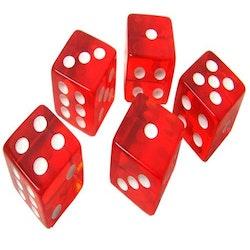 5 st. röda casino tärningar