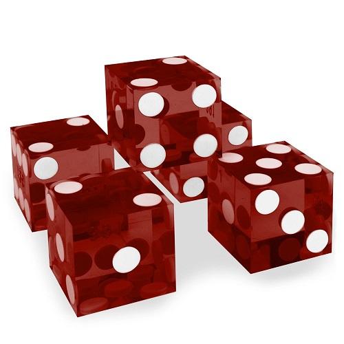 5 st. röda casino precisionstärningar AAA