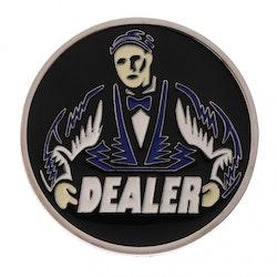 Dealer button i metall