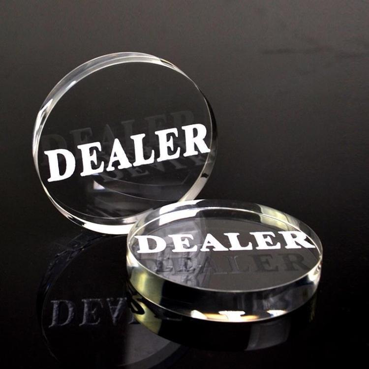Dealer button i kristall