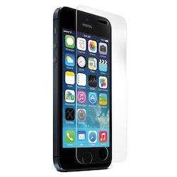 STREETZ transp skärmskydd för iPhone 5/5S, härdat glas, putsduk