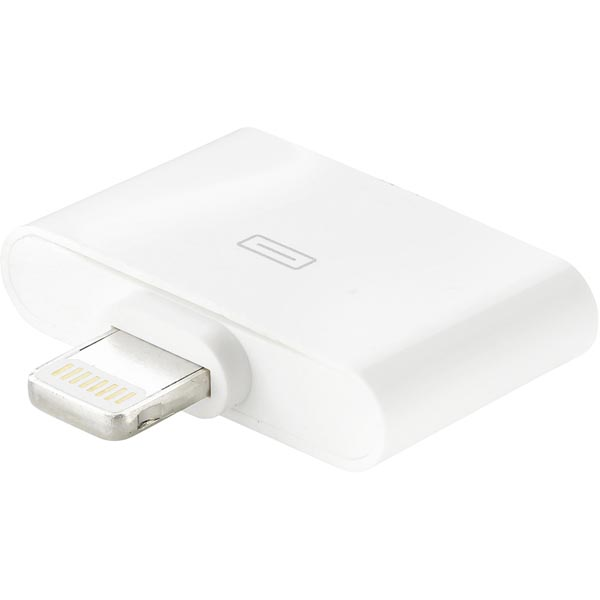 EPZI Lightning adapter, Lightning ha till Apple 30-pin ho, vit