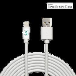 SiGN Lightning-kabel till iPhone / iPad, MFi-certifierad - 3 m
