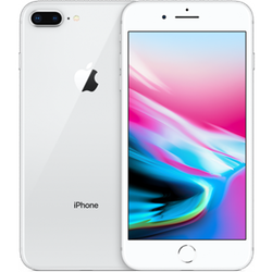 Begagnad Apple iPhone 8 Plus 64GB silver Bra skick