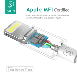 [APPLE Certifierad] 2 meter lightning kabel - SiGN