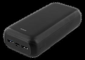 Deltaco PowerBank 30.000 mAh USB-C & USB-A - Svart